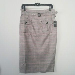 Forever 21 Glen Plaid Pencil Skirt